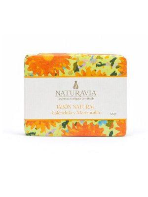 Jabón natural de caléndula y manzanilla