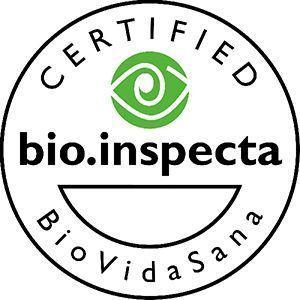 Sello distintivo de producto certificado por bio.inspecta