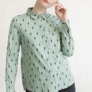 Camisa verde mujer