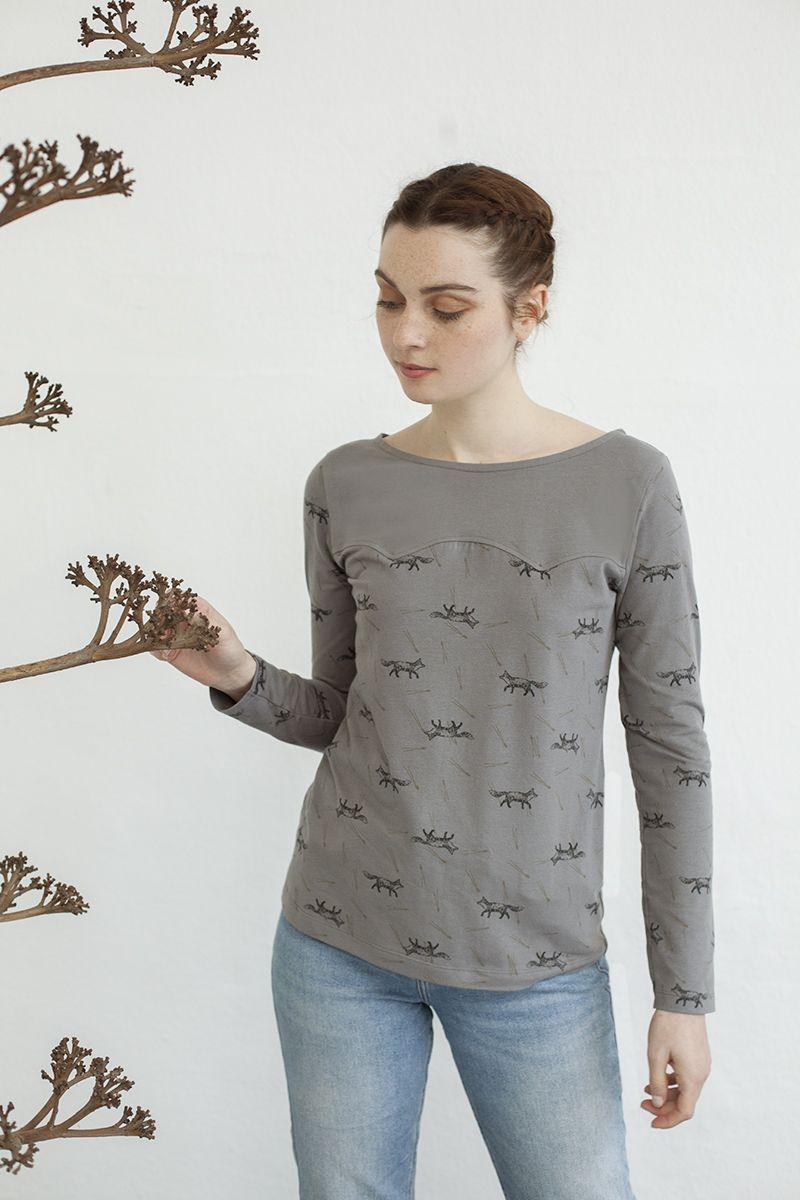 Camiseta gris mujer