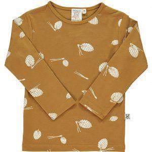 Camiseta infantil de algodón orgánico color mostaza