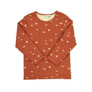 Camiseta manga larga niños algodón orgánico color terracota