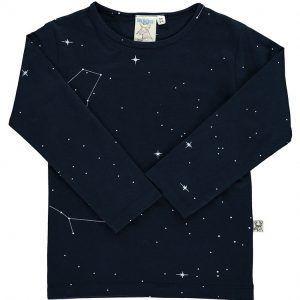 Camiseta niños de algodón orgánico color azul