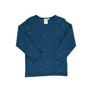 Camiseta niños de algodón orgánico color azul constelaciones