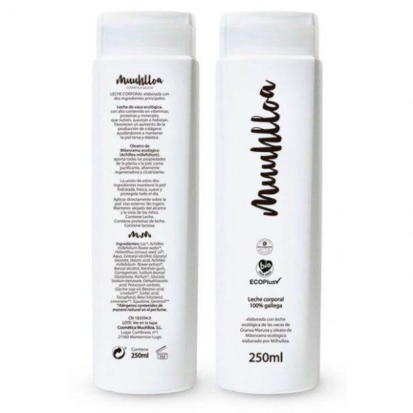 Crema corporal ecológica de leche y milenrama