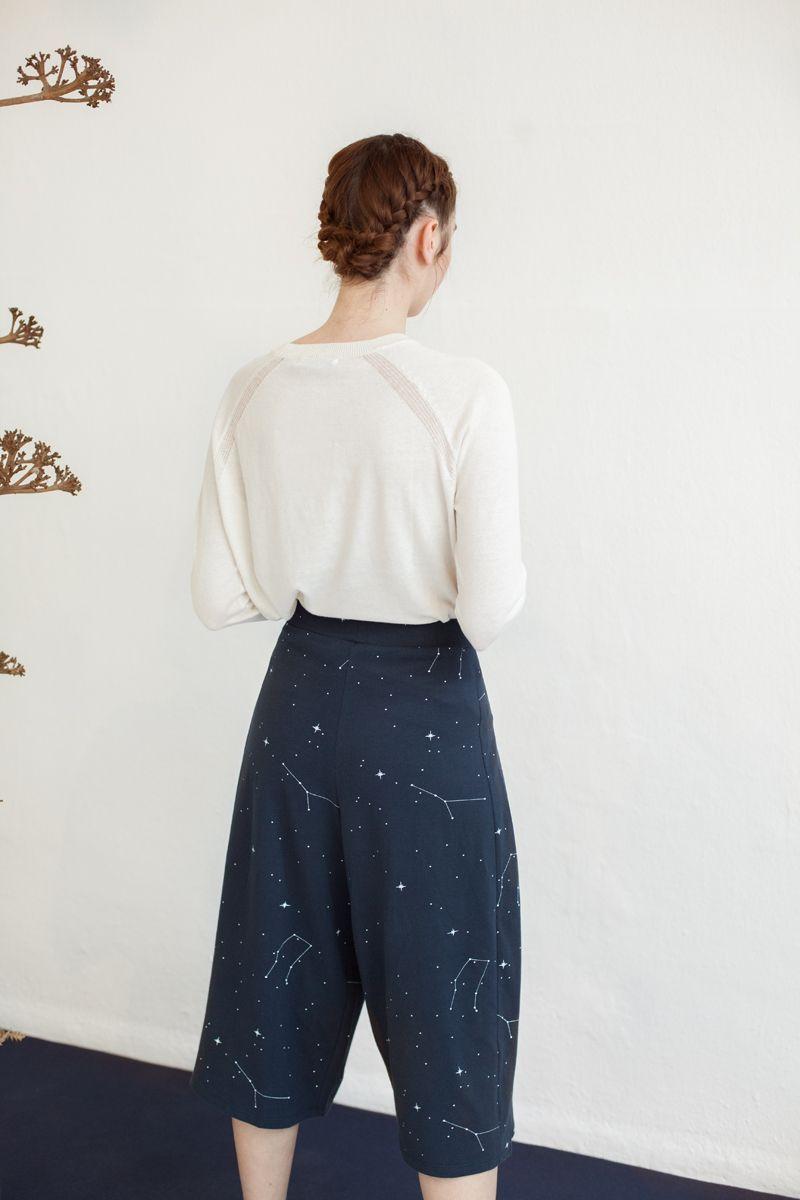 Culotte color azul marino