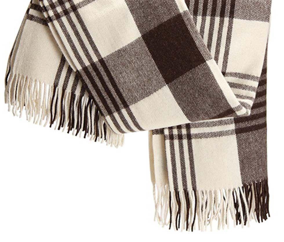 Detalle de manta regional de lana de oveja.