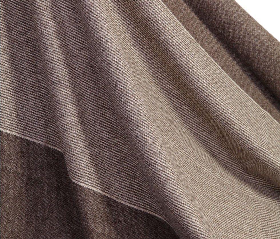 Detalle de manta de lana de oveja