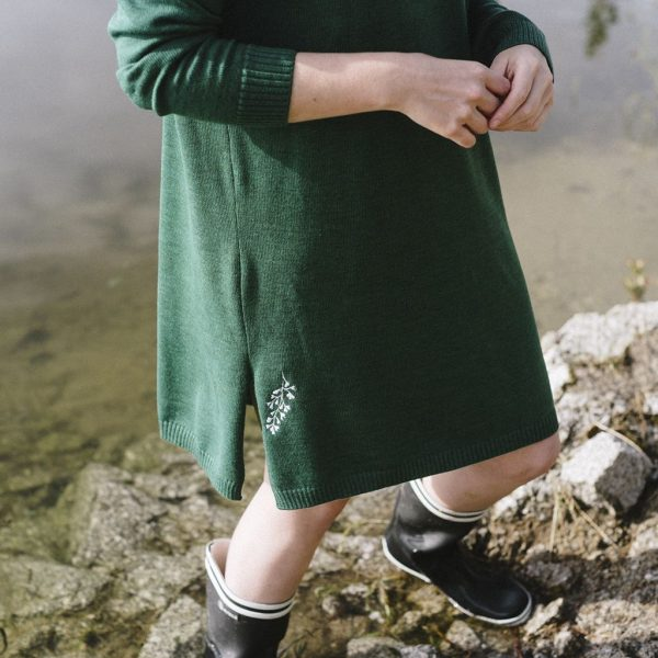 Detalle de vestido de lana