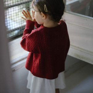 Jersey de lana para niños ochos y trenzas