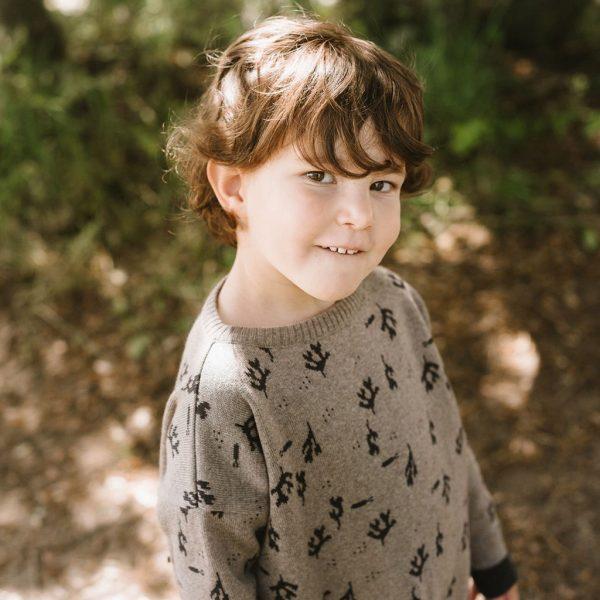 Jersey de lana estampado para niños