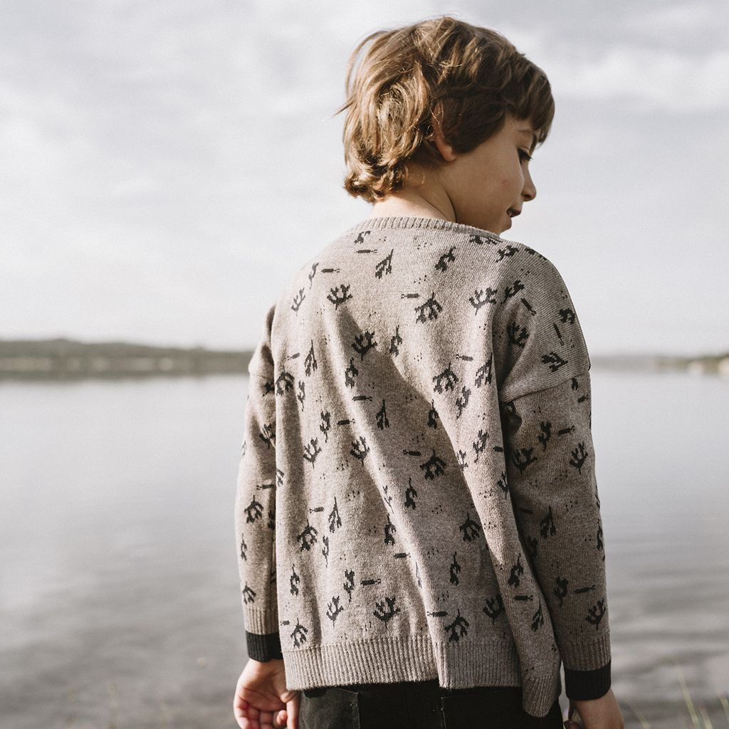 Jersey de lana merino espalda