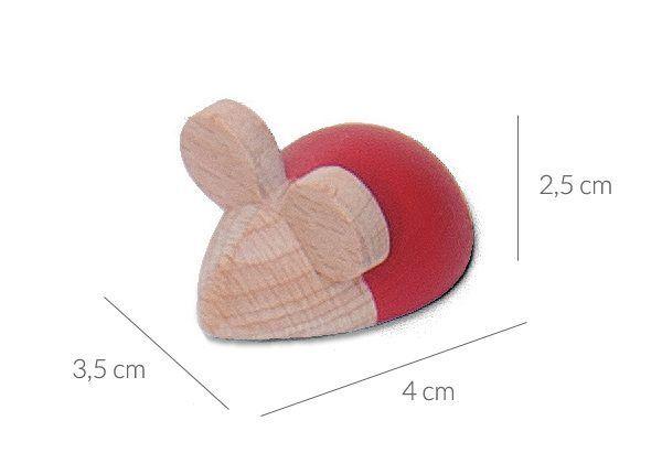 Pieza con forma de ratón de juego para aprender a sumar y restar