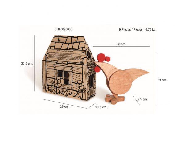Juguete educativo de madera Chikoc con cotas