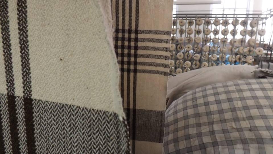 Manta para cama de tejido natural
