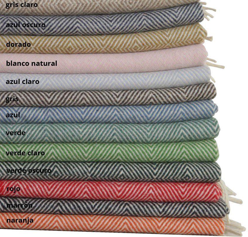 Mantas de lana de colores