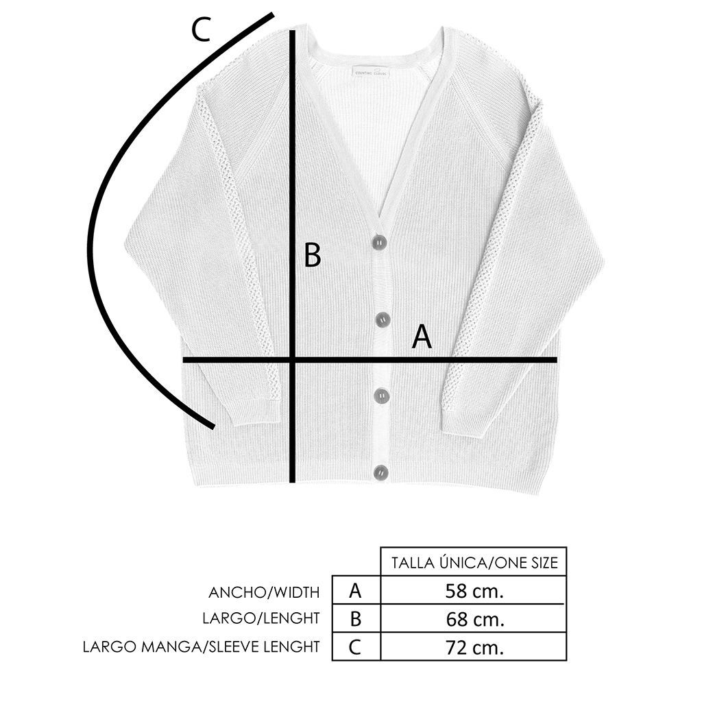 Medidas chaqueta oversize de lana merino