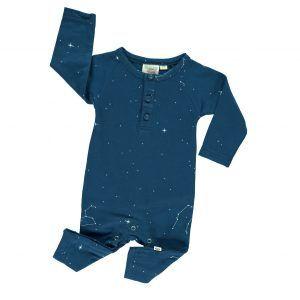 Mono bebé invierno algodón orgánico azul