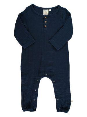 Mono bebé invierno algodón orgánico azul marino