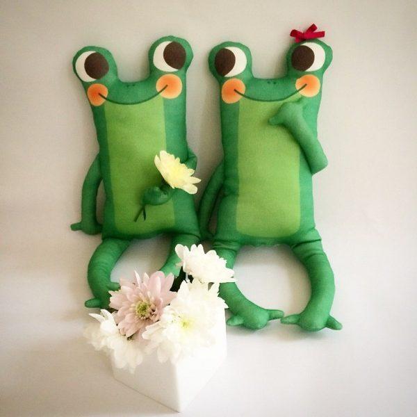 Muñeco infantil ecologicoMr. Frog pareja