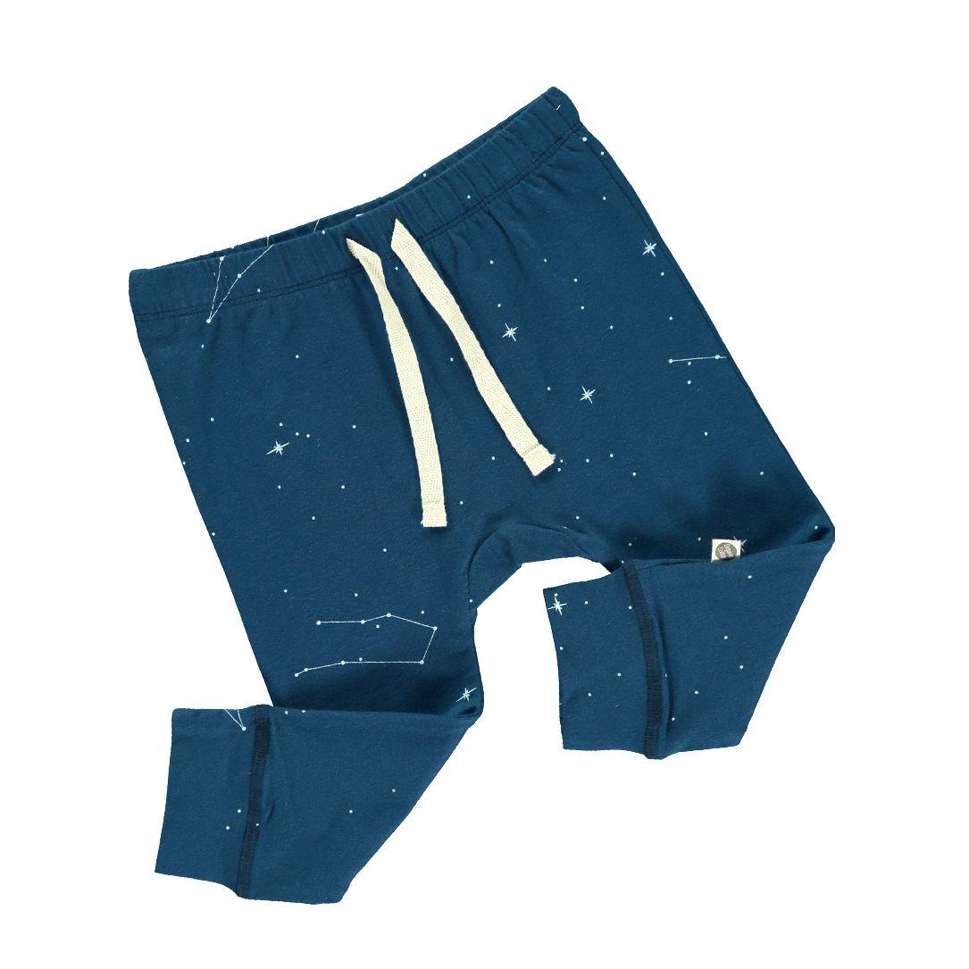 Pantalón infantil algodón orgánico azul constelaciones
