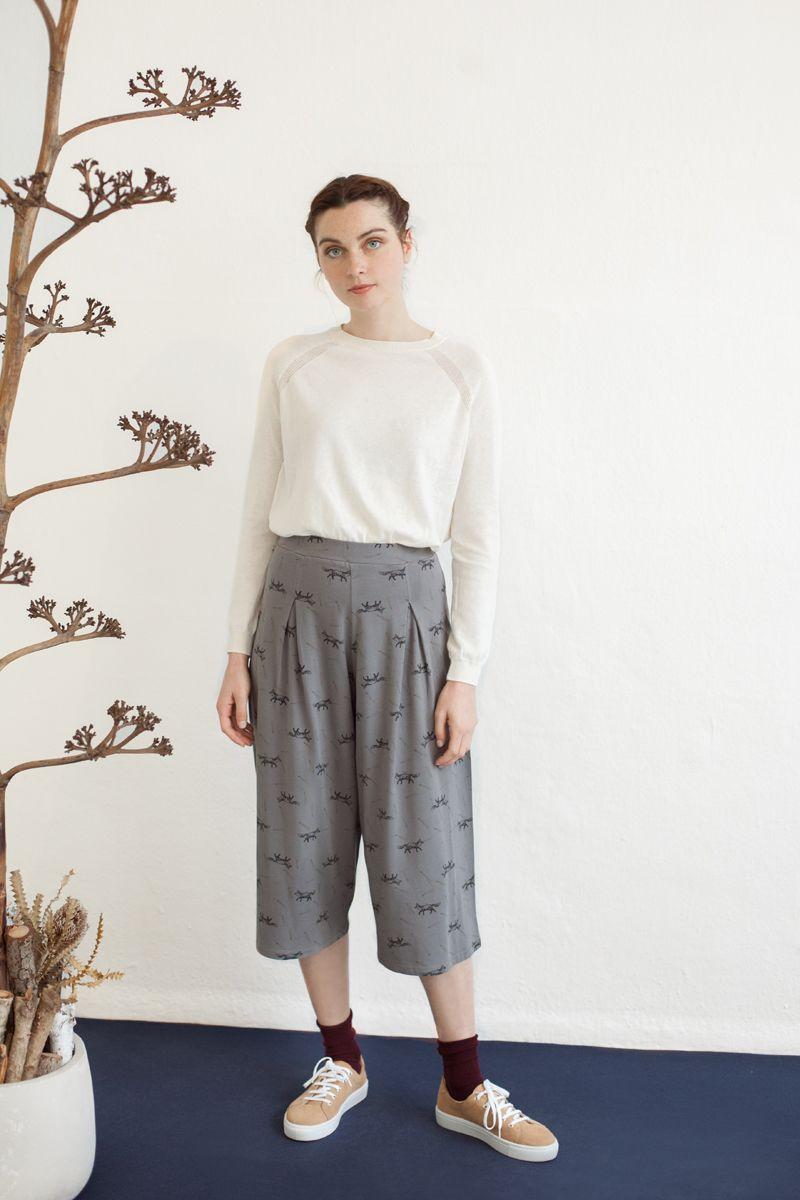 Pantalón midi ancho