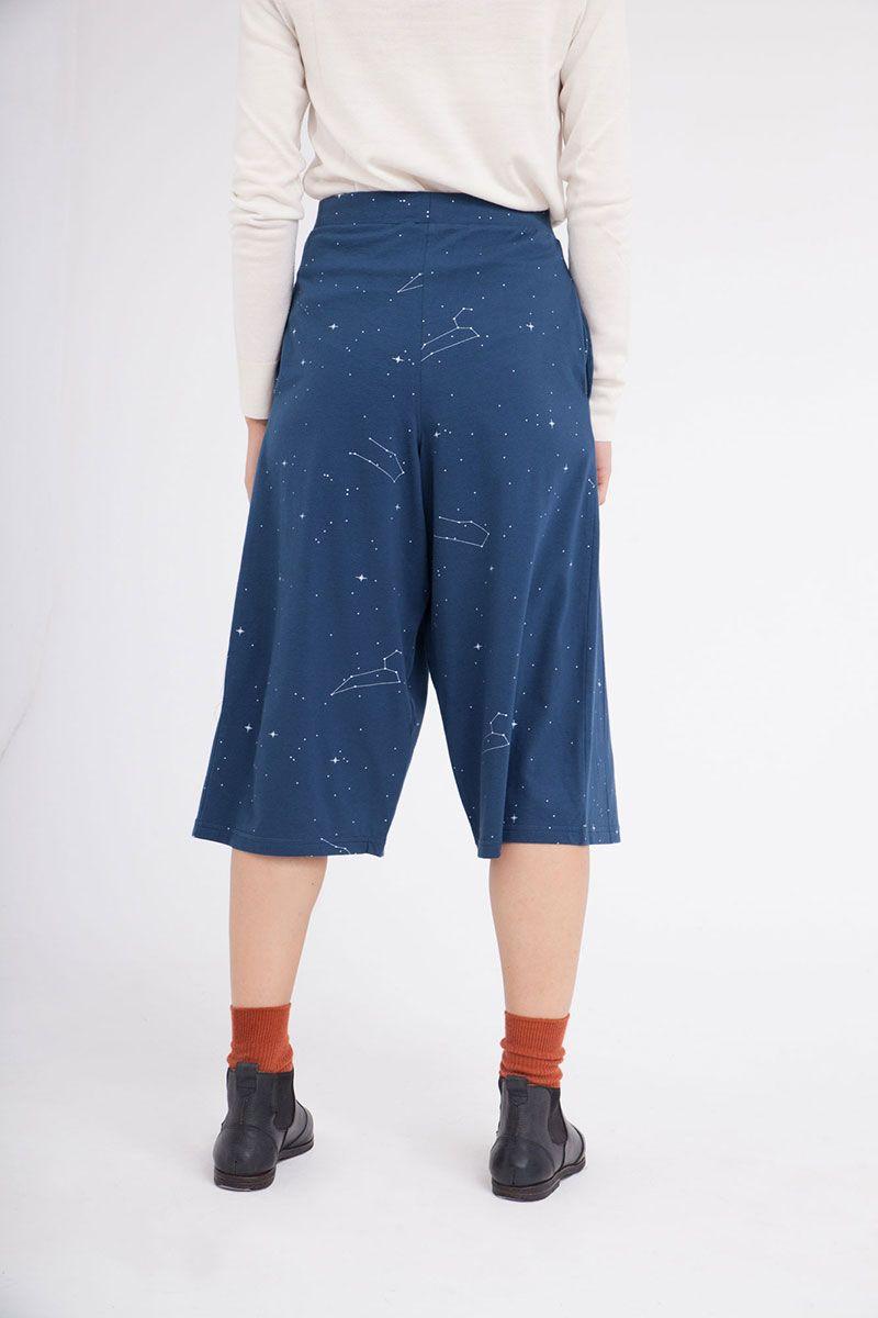 Parte trasera pantalón culotte estampado