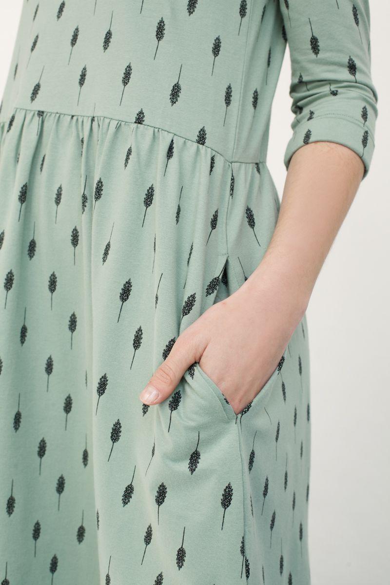 Vestido color verde agua con bolsillos