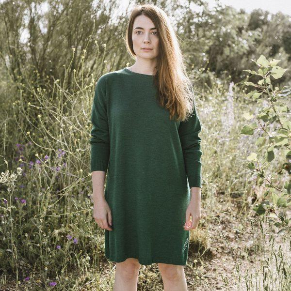 Vestido de lana merino Marea Baja