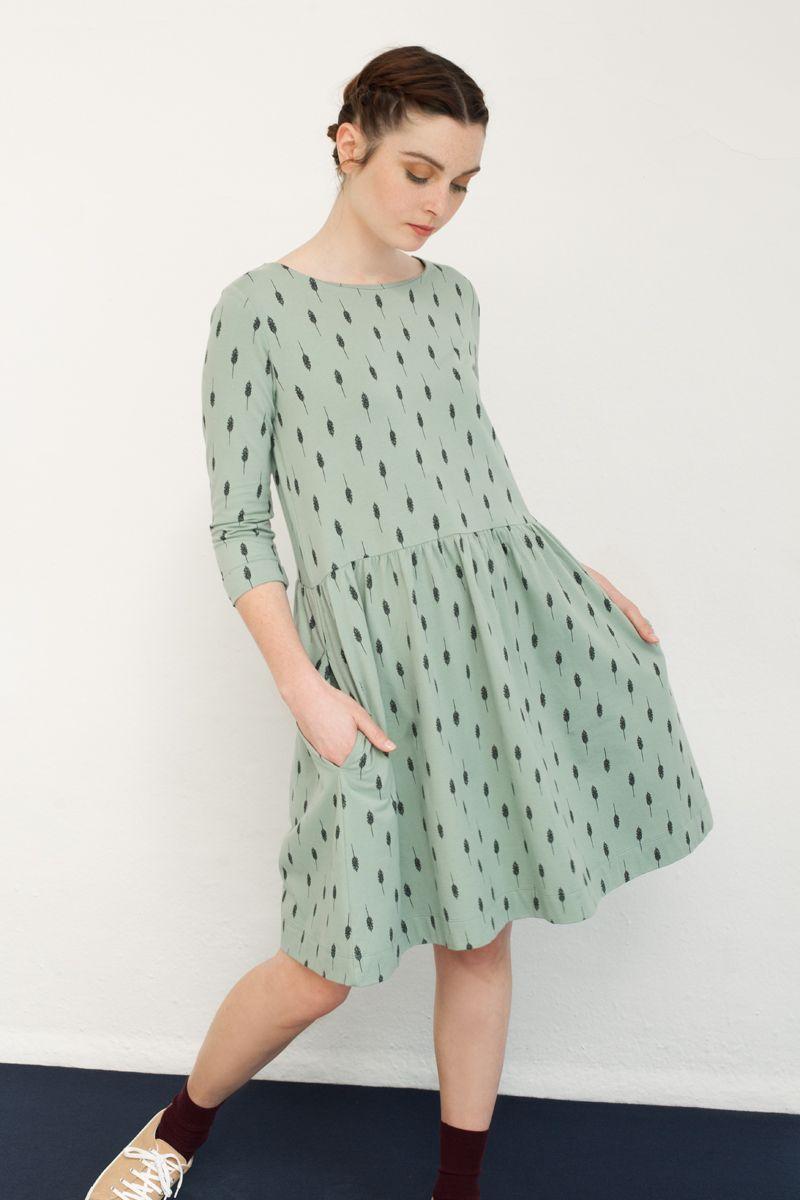 Vestido verde agua pastel