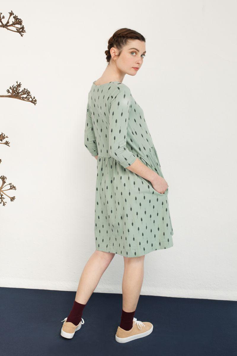 Vestido oversize de color verde
