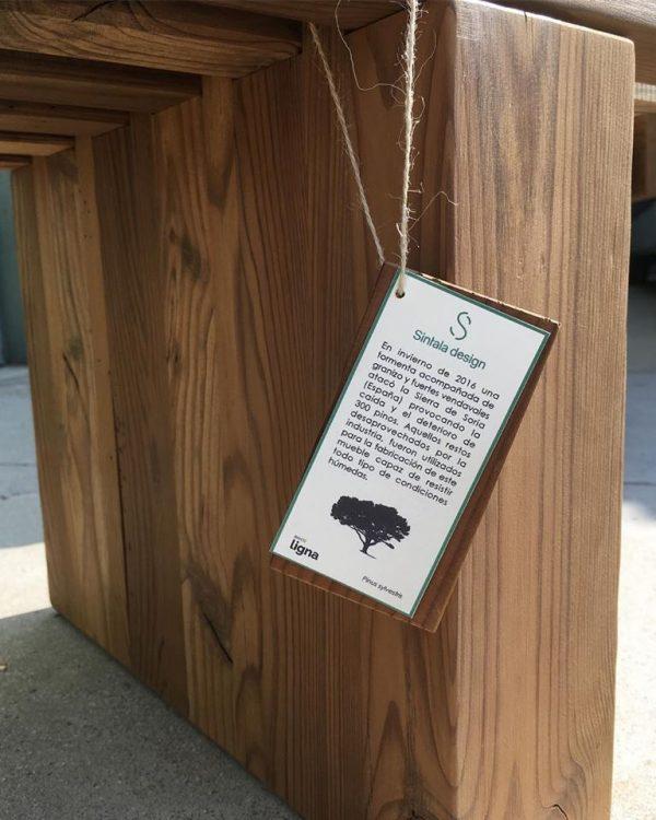 Banco de jardín ecológico
