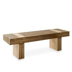 banco de madera para exterior
