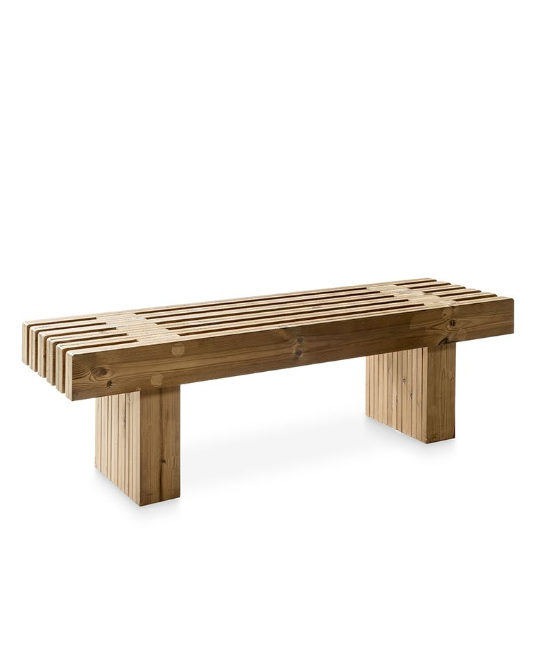 Banco de madera para exterior e interior de fabricaci n sostenible fieito Banco madera exterior
