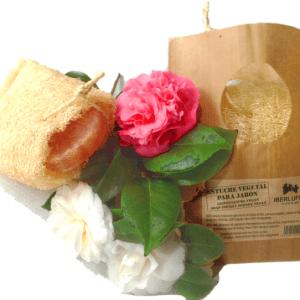 Esponja vegetal. Estuche natural para jabones