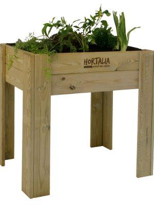 Huerto urbano ecológico. Mesa de cultivo