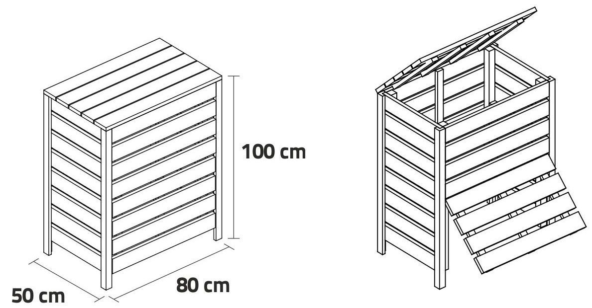 Medidas de la compostera ecológica