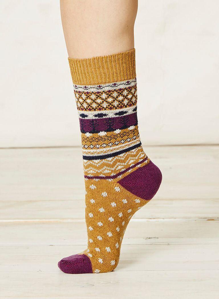 Calcetines de lana Jacquard