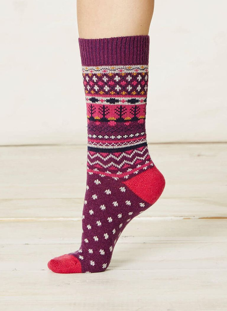Calcetines de lana mujer jacquard
