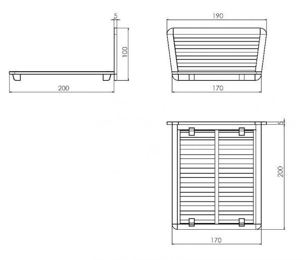 Cama tatami con cabecero de cama de madera con medidas