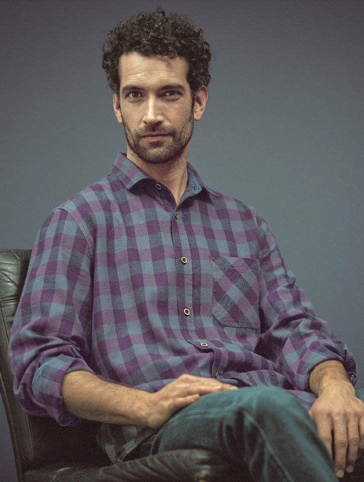 Camisa de cuadros hombre de cáñamo y algodón orgánico