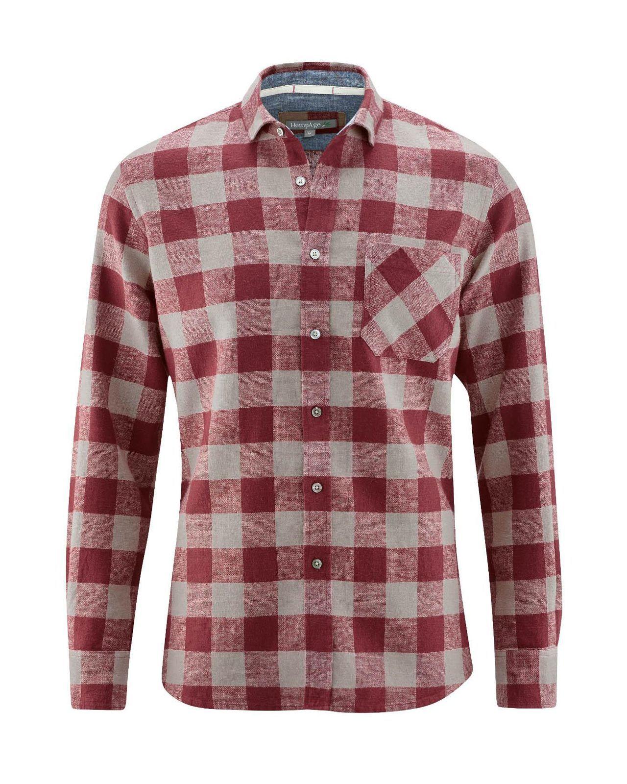 Camisa de cuadros hombre granate