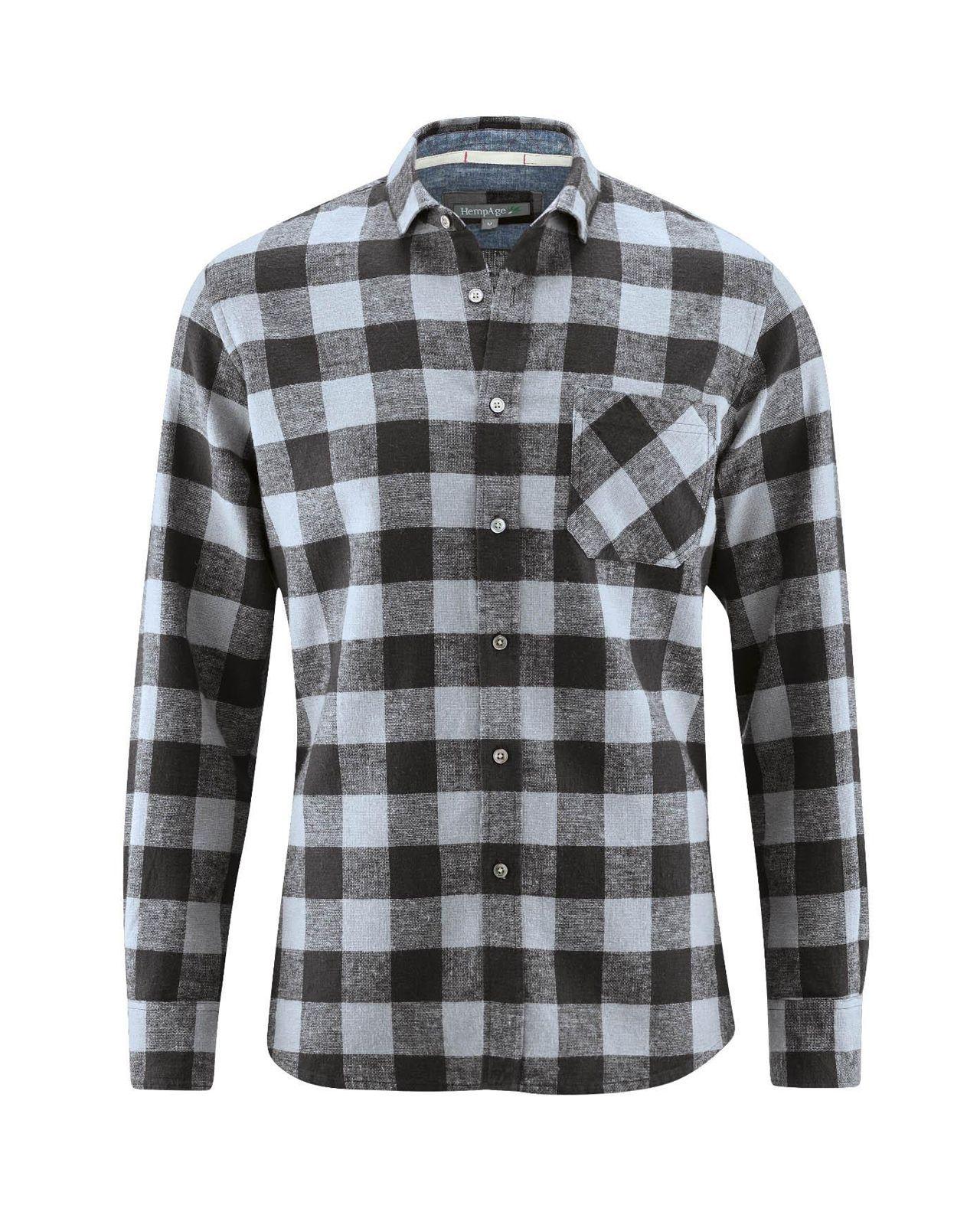 12df1c4babdd3 Camisa de cuadros hombre. Ropa de cáñamo y algodón orgánico - Fieito