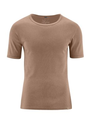 Camiseta manga corta hombre avellana