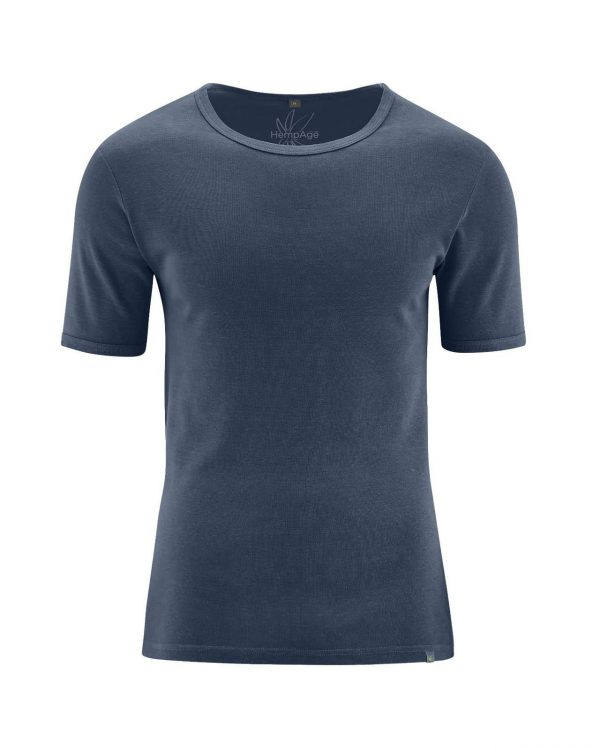 Camiseta manga corta hombre azul