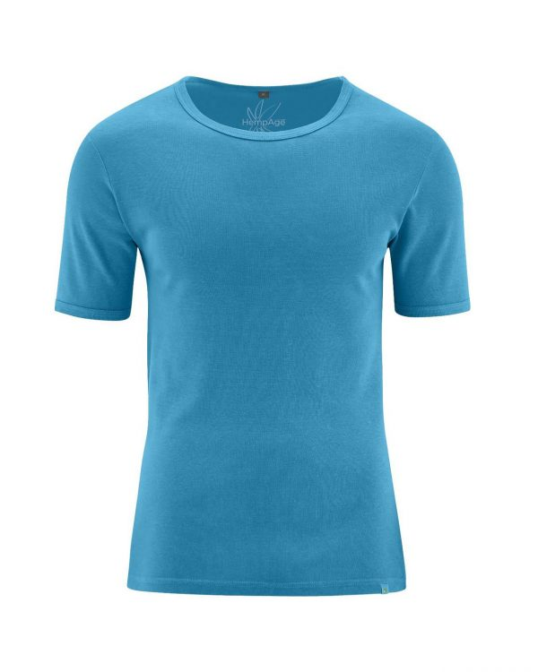 Camiseta manga corta hombre azul claro