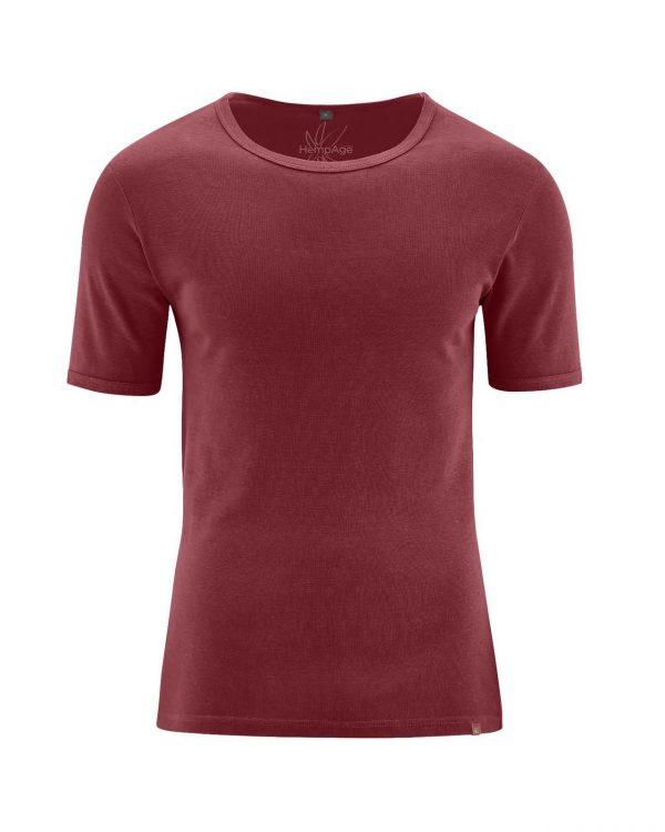 Camiseta manga corta hombre granate