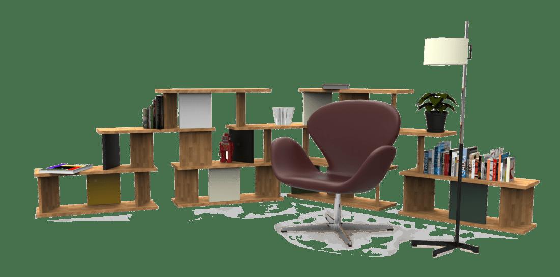 Estantería modular de diseño exclusivo