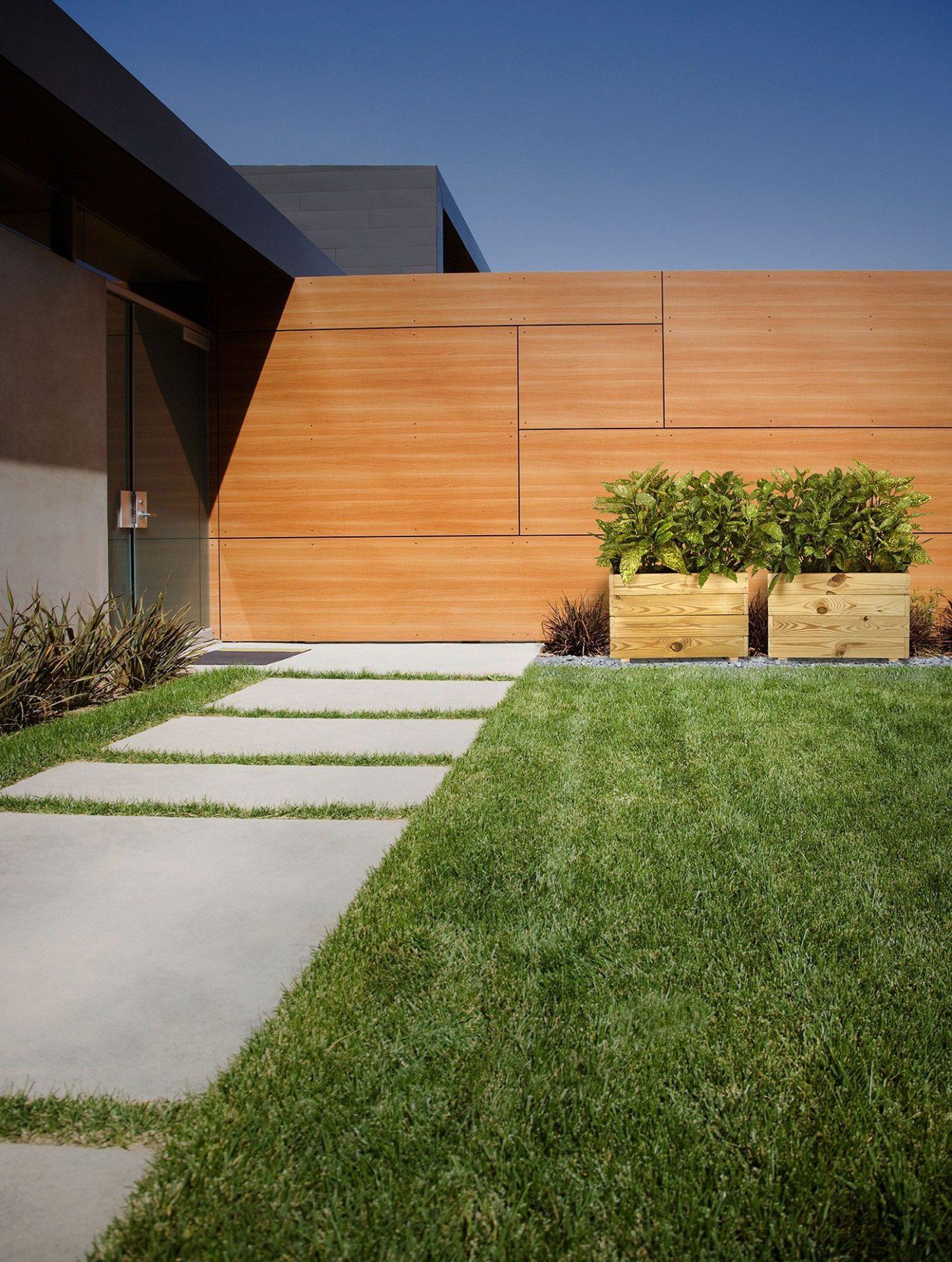 Jardinera de madera plantas exterior