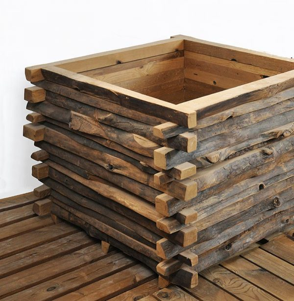 Jardinera madera cuadrada